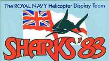 Broschüre SHARKS The Royal Navy Helicopter Display Team 1988, selten, rare!