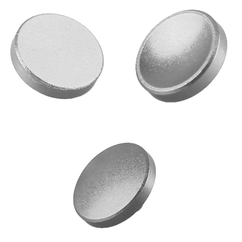 3Pc Camera Metal Shutter Release Button Brass for 10mm Silver
