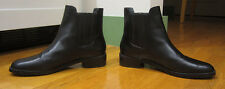 STUART WEITZMAN BLACK BASILICO LEATHER ANKLE LOW HEELS CHELSEA BOOTS 10M