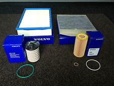 ORIGINALE Volvo D5 Diesel Servizio Kit Aria Olio Cabina Carburante Filtro-V70 S60 S80 XC90