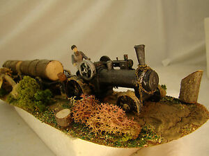 Steam-Donkey-Logging-Diorama-custom-weathered-handcrafted-HO-scale-lot-6
