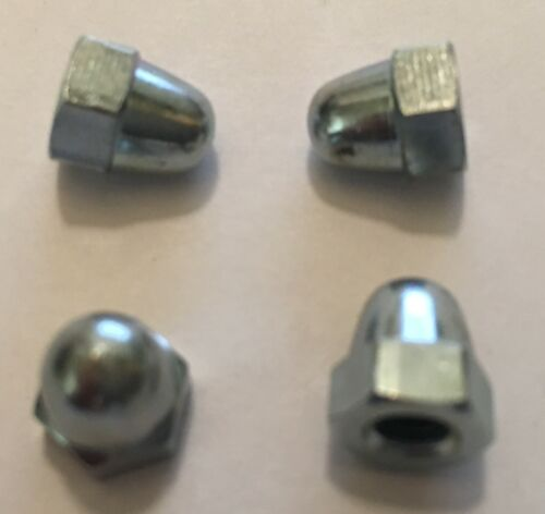 4 x 5mm Domed Hood Arm Nuts for DOLLS TOY PRAM Coach Built Silver Cross Wilson