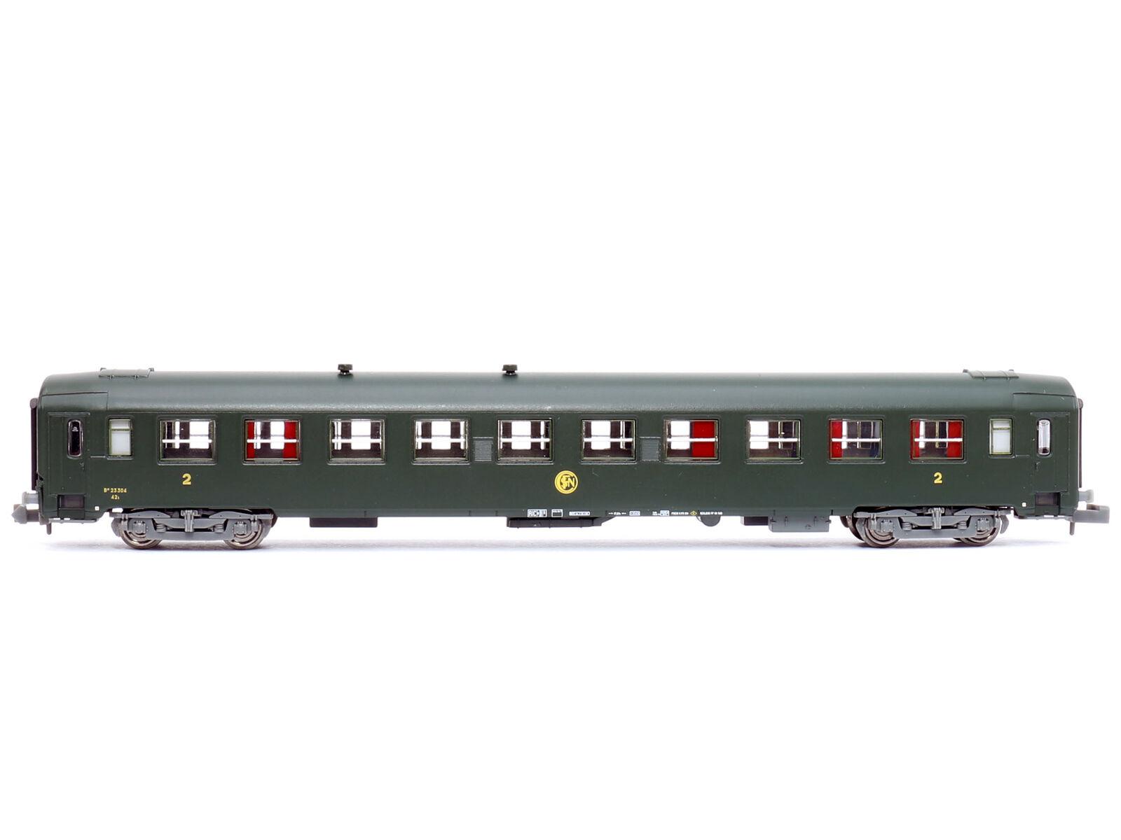 Ree nw-135 - vagoni treno rapido carro UIC rotondo logo EPOCA III-Spur N