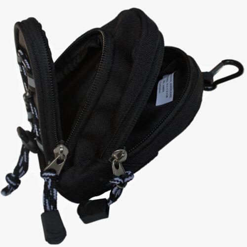 Fox Outdoor Fototasche Aufbewahrungs Tasche schwarz 13 x 11 x 4 cm mit Karabiner