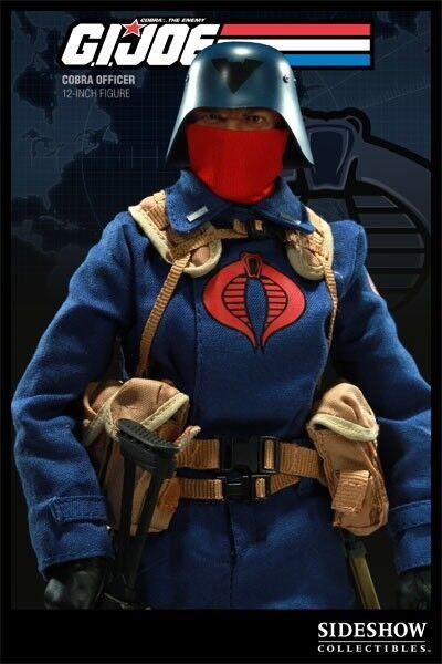 Sideshow Cobra Officer V1 GI Joe  Trooper Soldier Blau ARAH G1