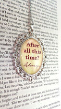 Large Harry Potter Inspired Necklace. After All This Time? Always. Cameo Pendant