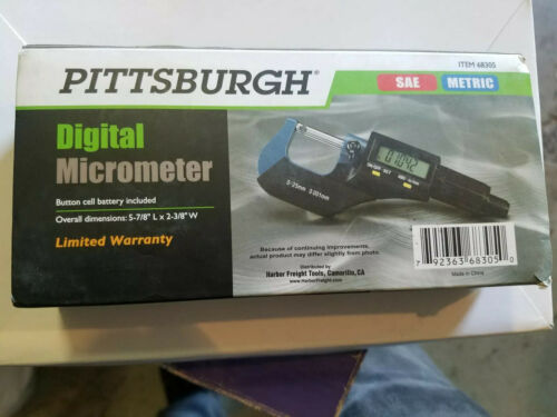 Digital Micrometer ~SAE//Metric~ with Storage Case Item# 68305 Digital Read Out