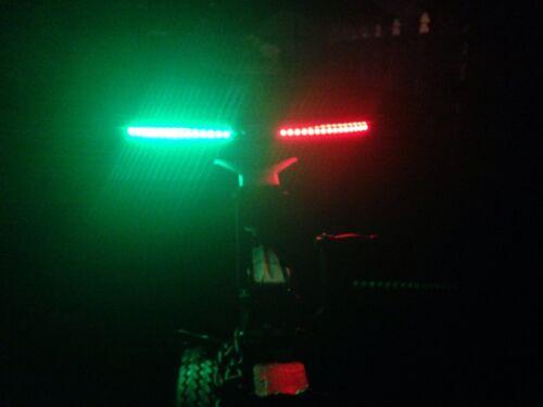 3X White Green Red Bow LED 1 Ft Submersible Navigation Light Stern Boat 12V Nav