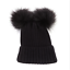 Toddler Kids Baby Girls Winter Warm Crochet Knit Hat Fur Pom Pom Beanie Cap