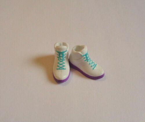 HTF Mattel Creatable World White Purple Sole Blue Laces Sneakers Skipper Liv NEW