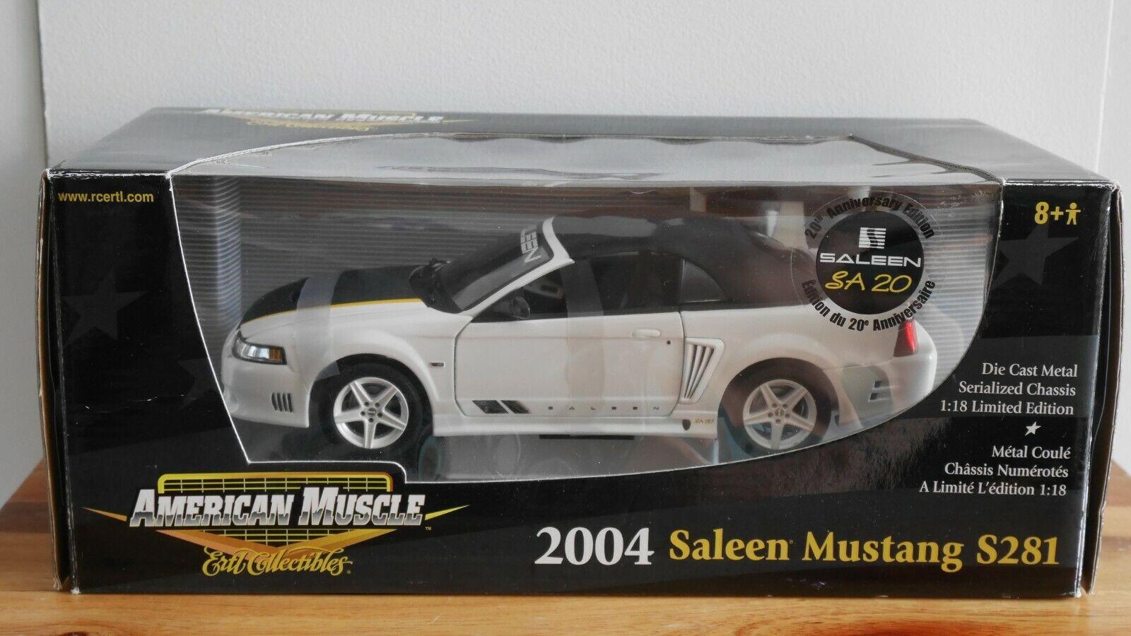 40% de descuento Ertl 2004 Saleen Saleen Saleen Mustang S281 SA-20 1 18 escala Diecast Modelo  tienda de bajo costo