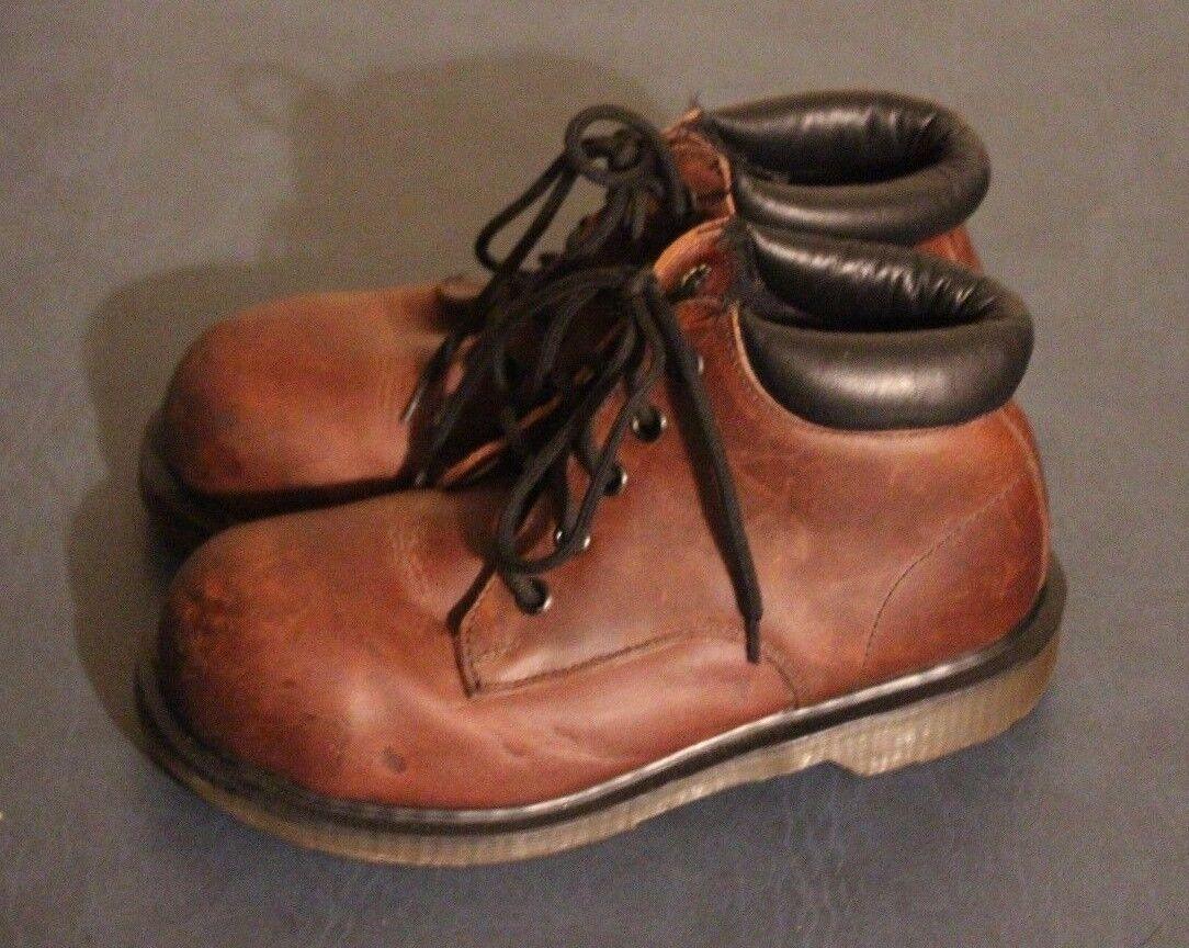 Dr Martens Damenschuhe 7751 Braun Braun Braun Leder Steel Toe Stiefel sz US 5 / UK 3 England 56baa4