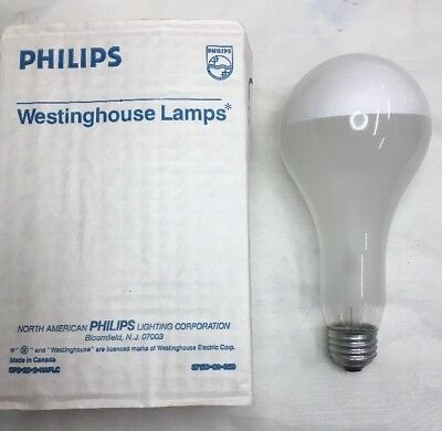 150PS25//FR 150 Watt PS25 Frosted Light Bulb 120V Philips USA 4-pcs