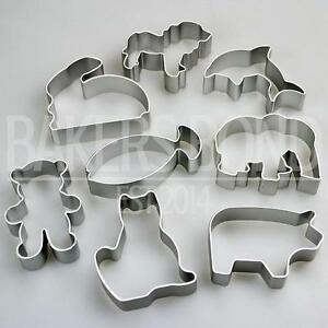 Animal-Shapes-Set-of-8-Metal-Cookie-Cutters-Dog-Cat-Rabbit-Fish-Bear-Biscuit