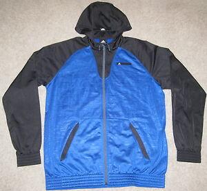 72a31fe735f5 NEW Adidas SCUBA HOOD BLUE FULL ZIP HOODED TRACK JACKET XL BLACK ...