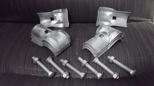 """2 1//2/""""x 1 5//8/"""" Galvanized T Clamps for Chain Link Fence 6 PACK Master Halco"""