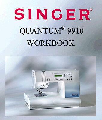 SINGER QUANTUM 9910 Instruction /& Workbook or Service Parts manuals on CD