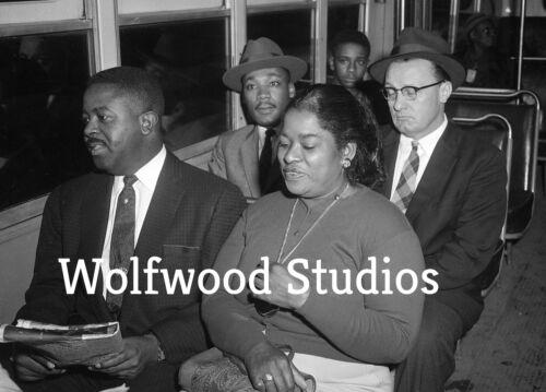 Martin Luther King Jr /& Ralph Abernathy on the Montgomery Bus Dec 21,1956 Photo
