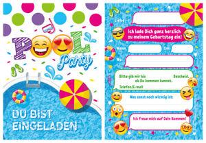 12 einladungskarten einladungen kindergeburtstag