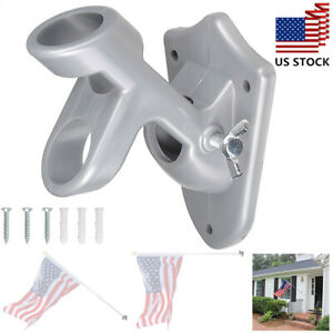 2-Angle-Positions-Flagpole-Bracket-Wall-Mounted-1-034-Flag-Pole-Holder-Home-Outdoor