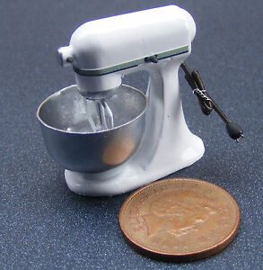 112 Scale Non Working White Food Mixer Dolls House Miniature Kitchen Accessory - <span itemprop=availableAtOrFrom>Kettering, United Kingdom</span> - Returns accepted - Kettering, United Kingdom