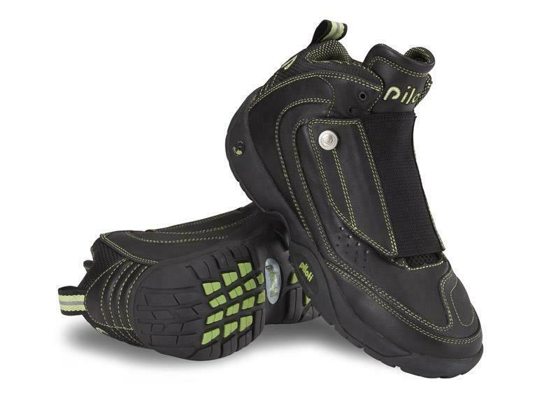 New Men's Piloti Moto 800 Motorcycle Leather  stivali scarpe Dimensione 7 -15 nero  verde  spedizione e scambi gratuiti.