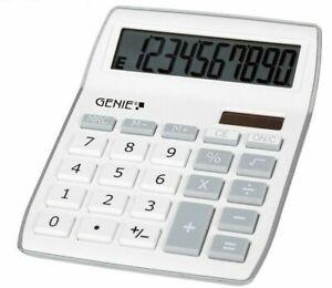 GENIE-840S-Taschenrechner-Solar-Rechner-Schule-Buerorechner-Rechenmaschine-weiss