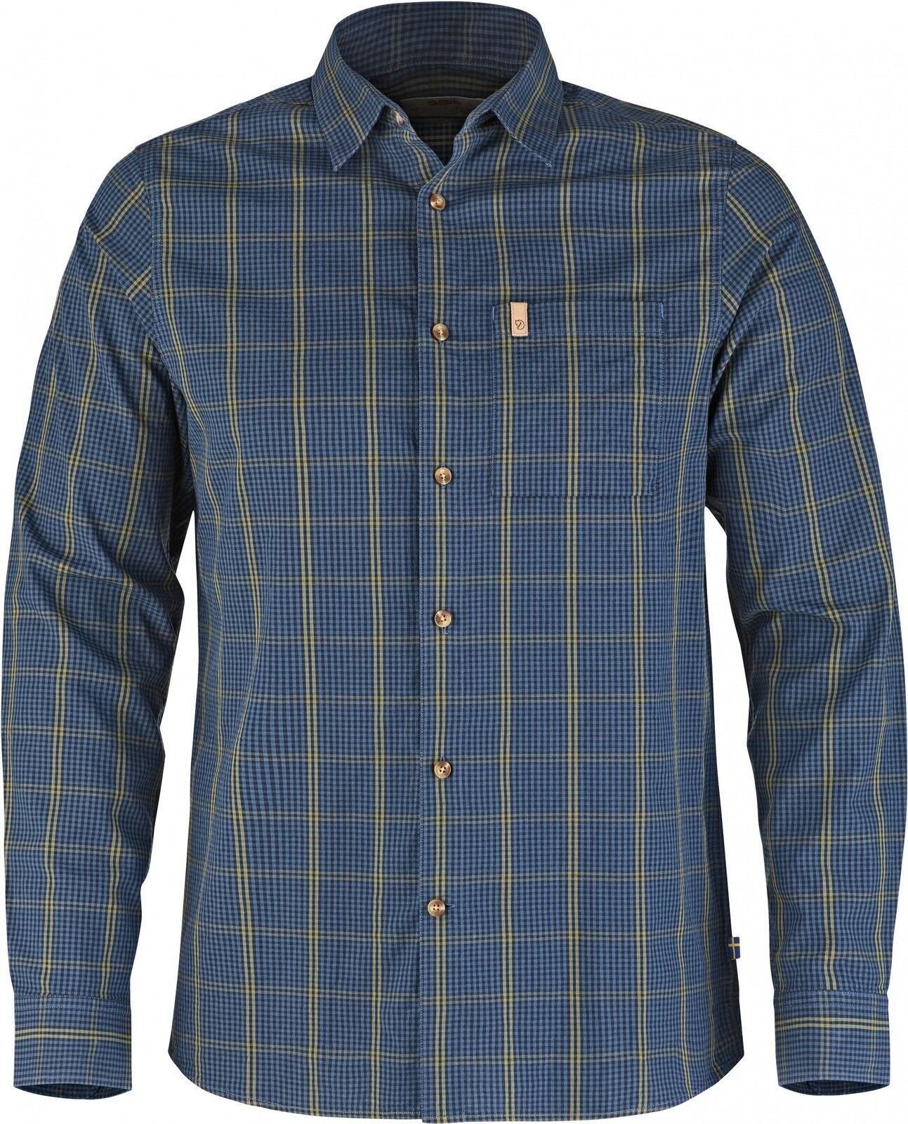 Fjäll Räven Kiruna Camiseta Camisa de hombre manga  larga, algodón, Uncle bluee  buy cheap