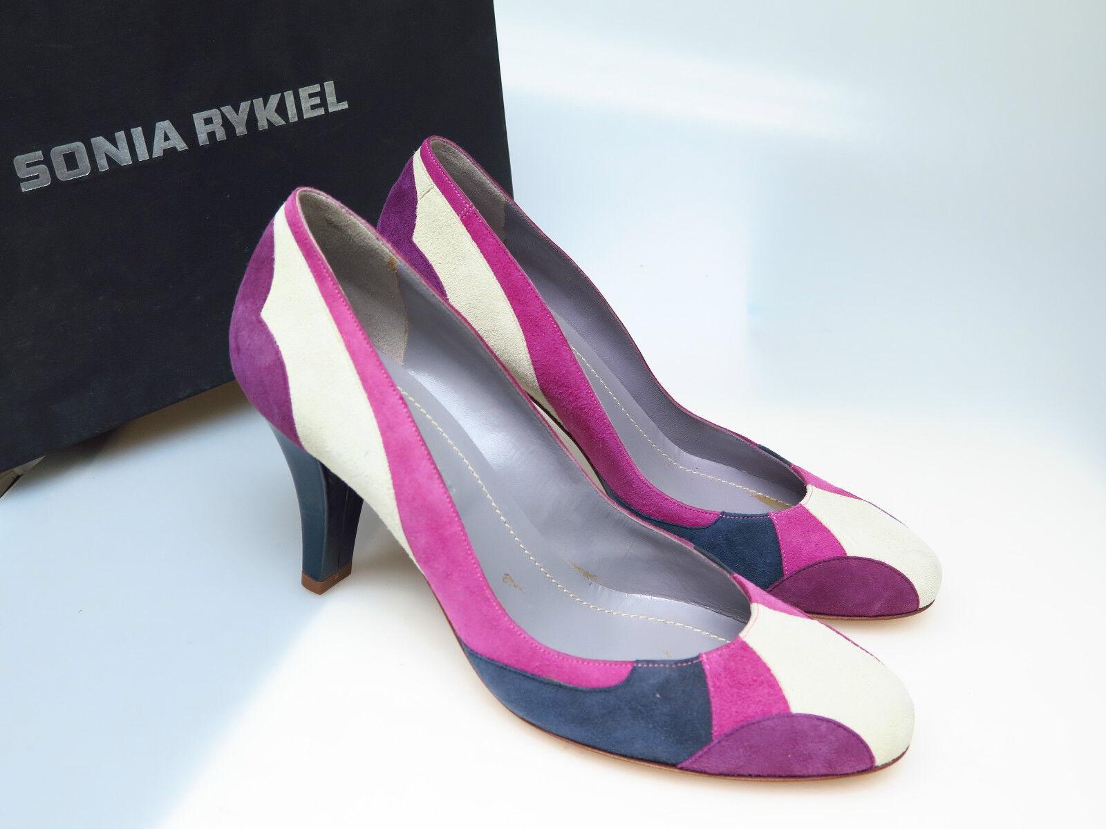 Sonia Rykiel Designer Schuhe / Damenschuhe 13-157 ECRU/FUCHSIA Gr. 37 NEU