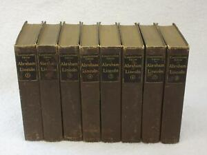 THE WRITINGS OF ABRAHAM LINCOLN Constitutional Edition 8 Vol Set Putnam's 1900s