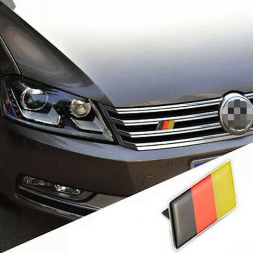 Car Germany Flag Grille Grill Emblem Badge Decal Sticker Fit For BMW Audi Sturdy