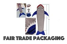 Baby Kids Shark Mermaid Tail Cosy Fleece Blanket Snuggle-in Soft Sleeping Bag UK