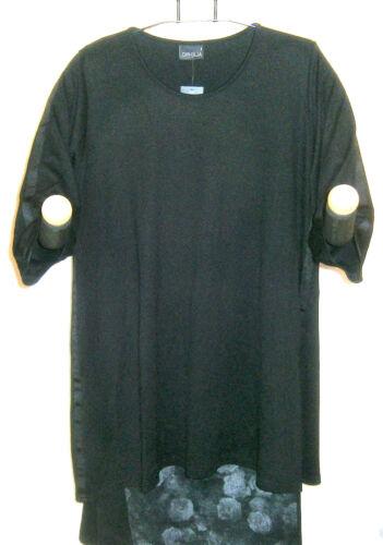 52 3 Tunika Schwarz Ophilia Neu Gr A Lagenlook Kleid linie Arm 54 4 6 EwxwfPYqt