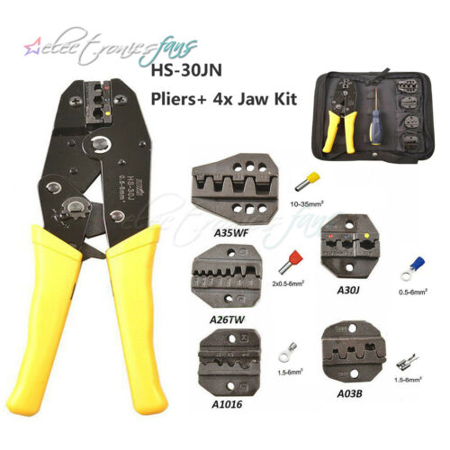 Crimping Tool Kit Terminal Ratchet Plier Crimper Die Set Cable Wire Hand Tool