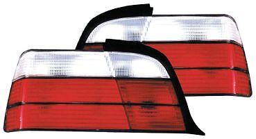 BMW Série 3 E36 1993-1997 Rouge /& Clair Lentille Arrière Feux Arrière Lampe Set-Paire
