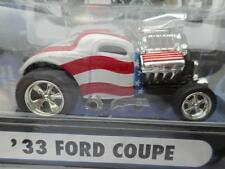 2003 1933 33 FORD COUPE RED WHITE BLUE MUSCLE MACHINES 1/64 diecast car
