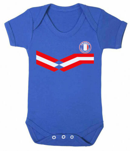 FRANCE World Cup 2019 Football BABYGROW Retro Boys Girls Rompersuit Vest Gift