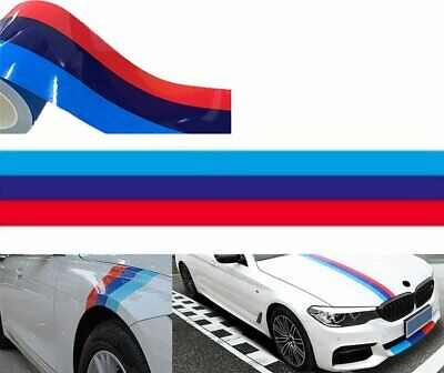 "48/"" MPower 3 Color Racing Body Stripe Vinyl Decal Sticker 4ft For BMW"
