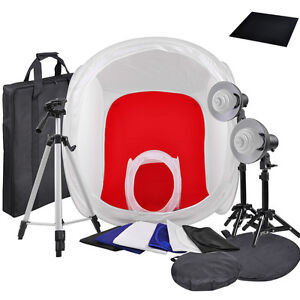 Photo-Studio-32-034-amp-12-034-Photography-Tent-Light-Backdrop-Kit-In-A-Box-Cube-Lighting