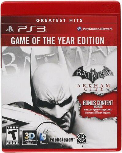 BRAND NEW SEALED Batman PS3, 2012 Arkham City