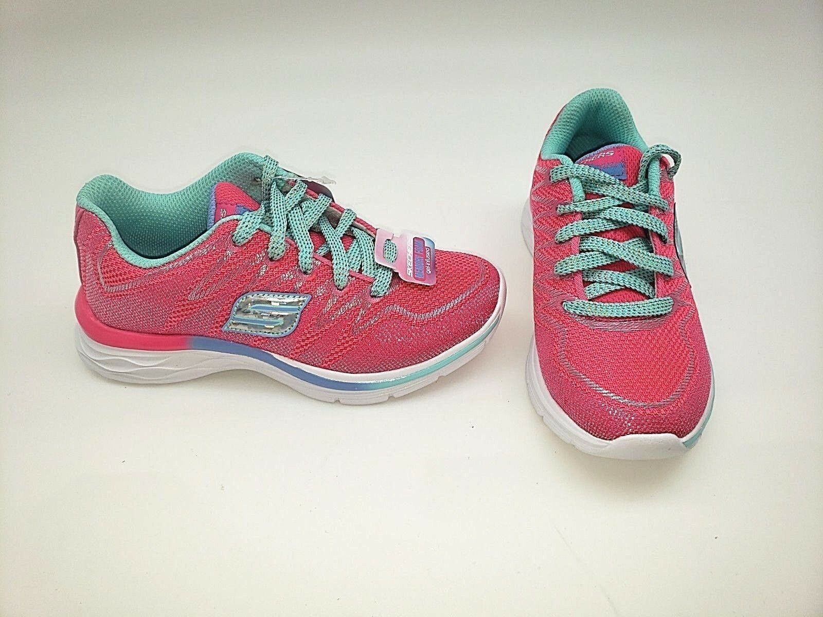 Girl/'s Toddler Skechers  Dream N/' Dash Whimsy 81131L Hot pink//Aqua 44S New