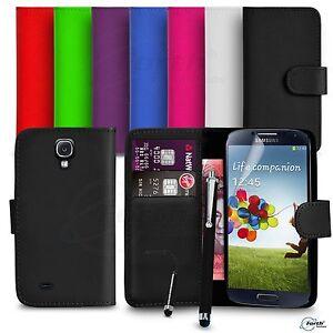Samsung-Galaxy-S4-FITS-Case-Premium-Leather-Wallet-Flip-Case-Mini-amp-Big-Stylus