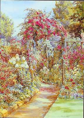 """Oxhey Hertfordshire/"""" par Beatrice Parsons ANNIVERSAIRE//Carte de vœux /""""Fleurs d/'été"""