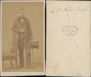 Petit-amp-Trinquart-Paris-Monsieur-le-comte-de-Pennele-circa-1860-CDV-vintage-a