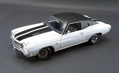 1970 Chevrolet Chevelle 454 Ls6 White Black Racing Stripes Vinyl Top Acme 1 18 For Sale Online Ebay