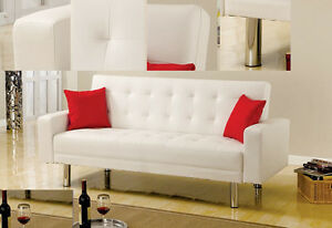 Image Is Loading Bm 1748 Black Or White Leather Sofa Couch