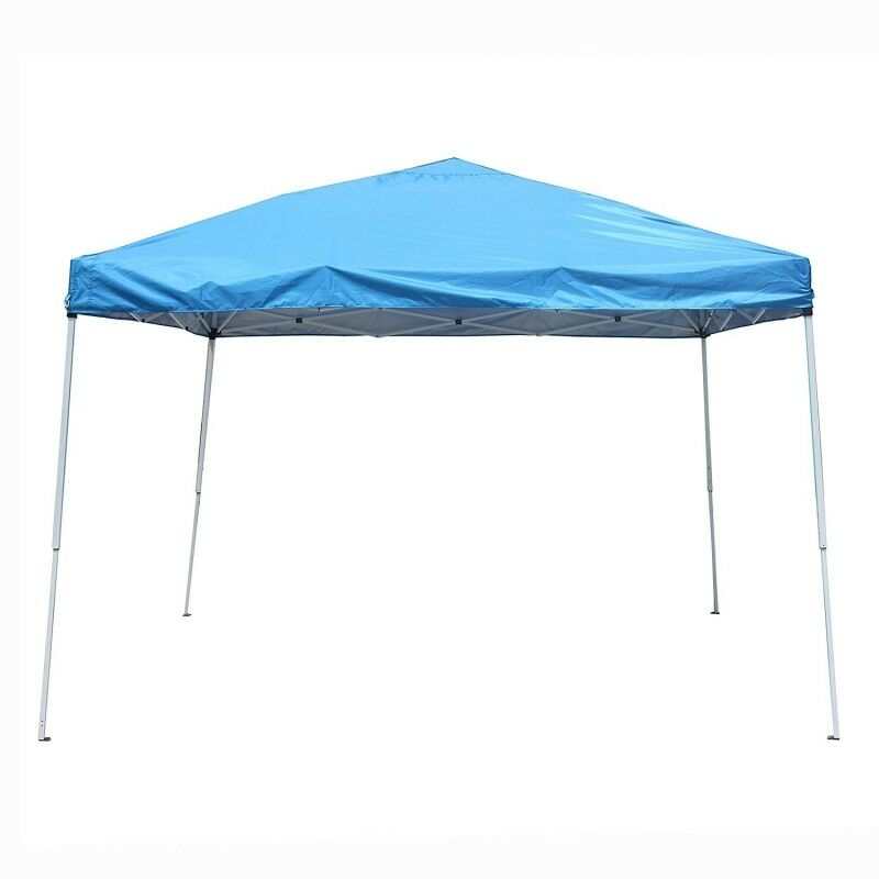 Aleko 10 X 10 Fácil Pop Up Toldo Gazebo Cochepa Plegable al aire libre, Color azul