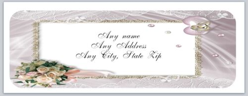 c 739 Personalized Address labels Wedding Flowers Rings Buy 3 get 1 free