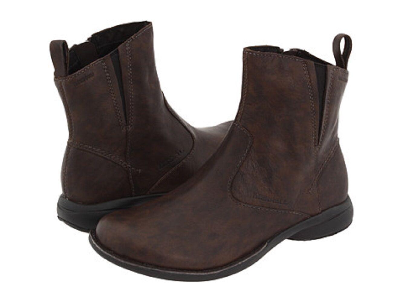 Damenschuhe Größe 5 MERRELL Ankle Tetra Catch Waterproof Leder Ankle MERRELL Stiefel Dark Braun 0a1fb3