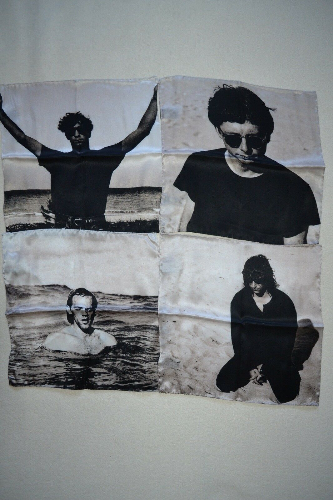 Paul Smith+ REM Band Silk Pocket Square Box Set Mens Brand New